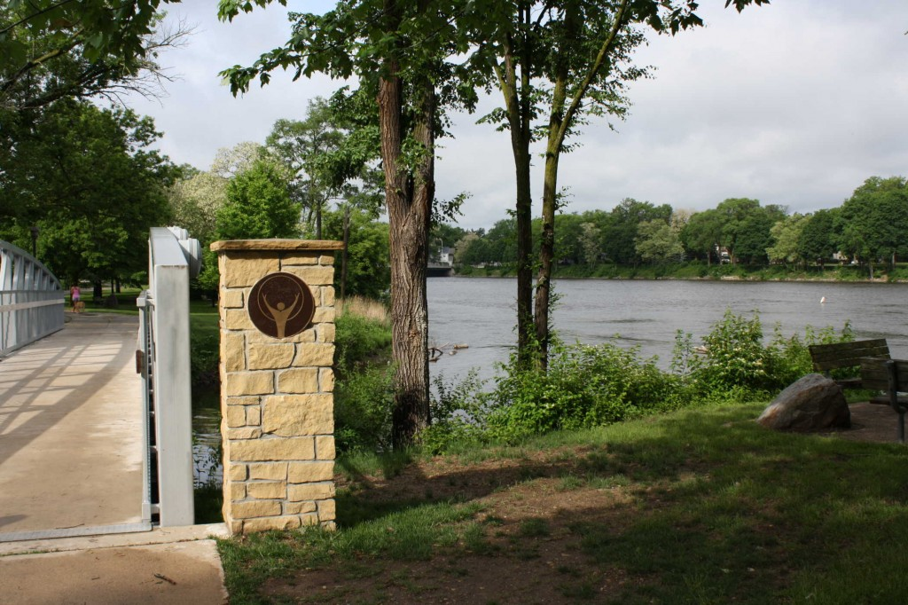 The Sinnissippi Bike Path, Along the Rock River, Facing South