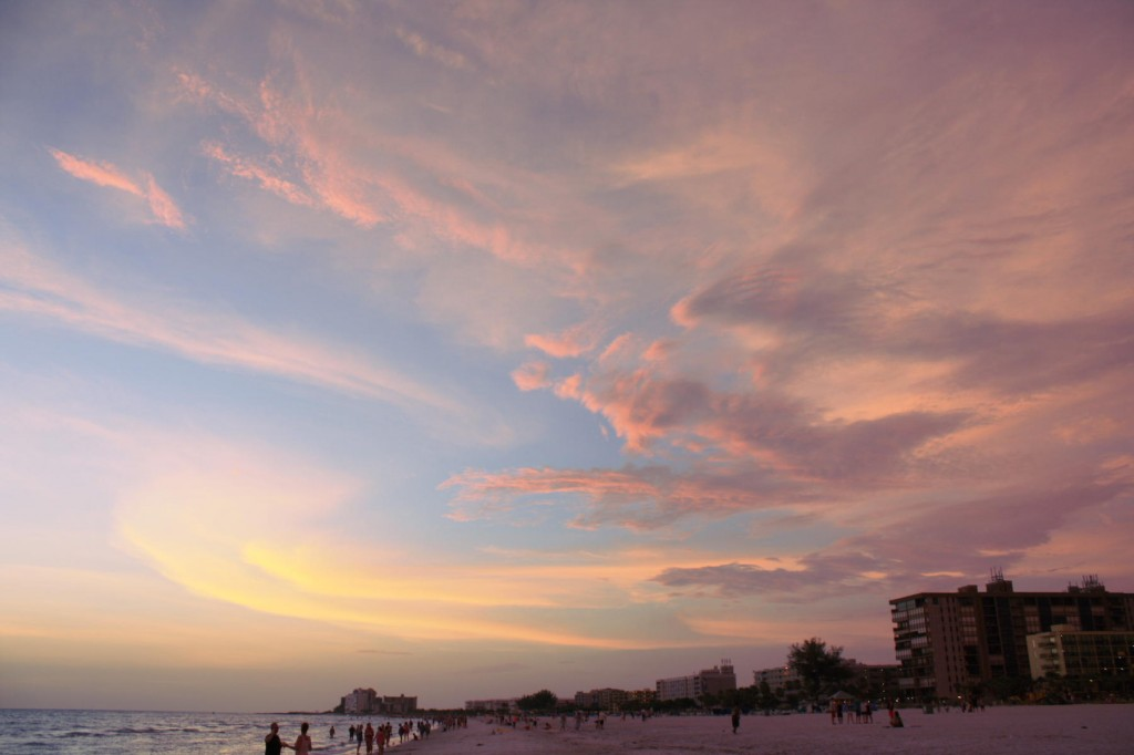 Sunset at the beach, St. Petersburg, FL
