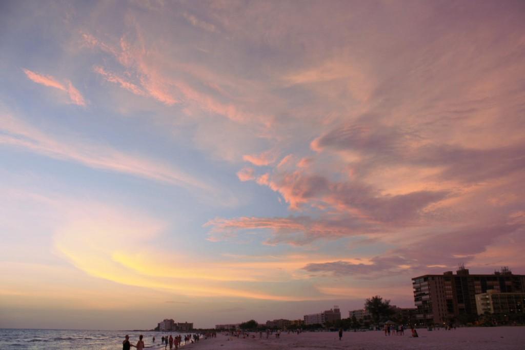Sunset at the beach, St. Petersburg, FL