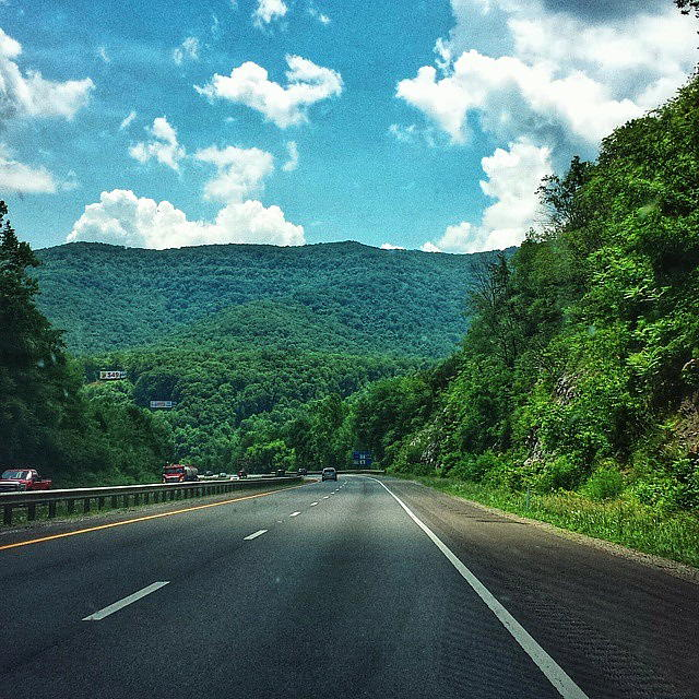 The open road. North Carolina. Photo © Nic Blaski June 2015