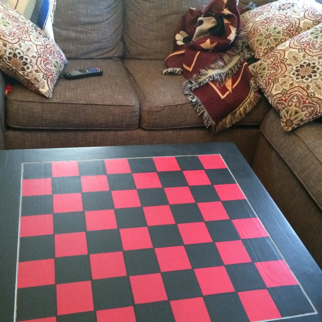 The checkerboard table. Fun for the whole family.