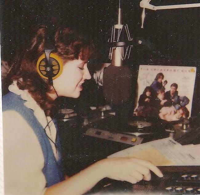 Spinning discs at WJMU circa 1984-85