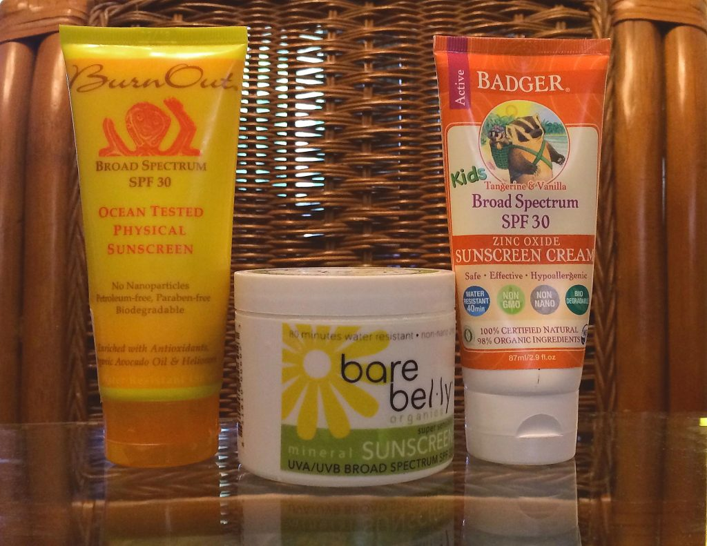 Three sunblocks chosen for a summer-long comparison