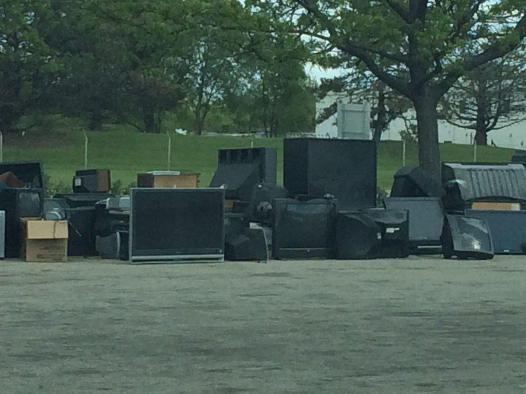 Big pile of big TVs