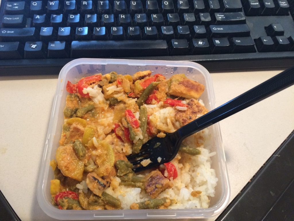 Mango Curry with Steamed Rice