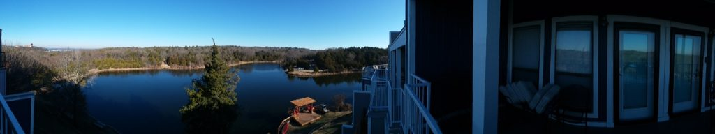 panoramic outside view of condo in Texas