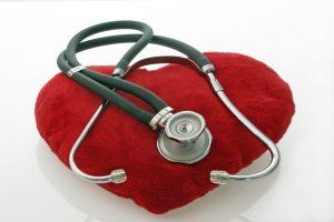 Red Velvet Heart with Stethoscope